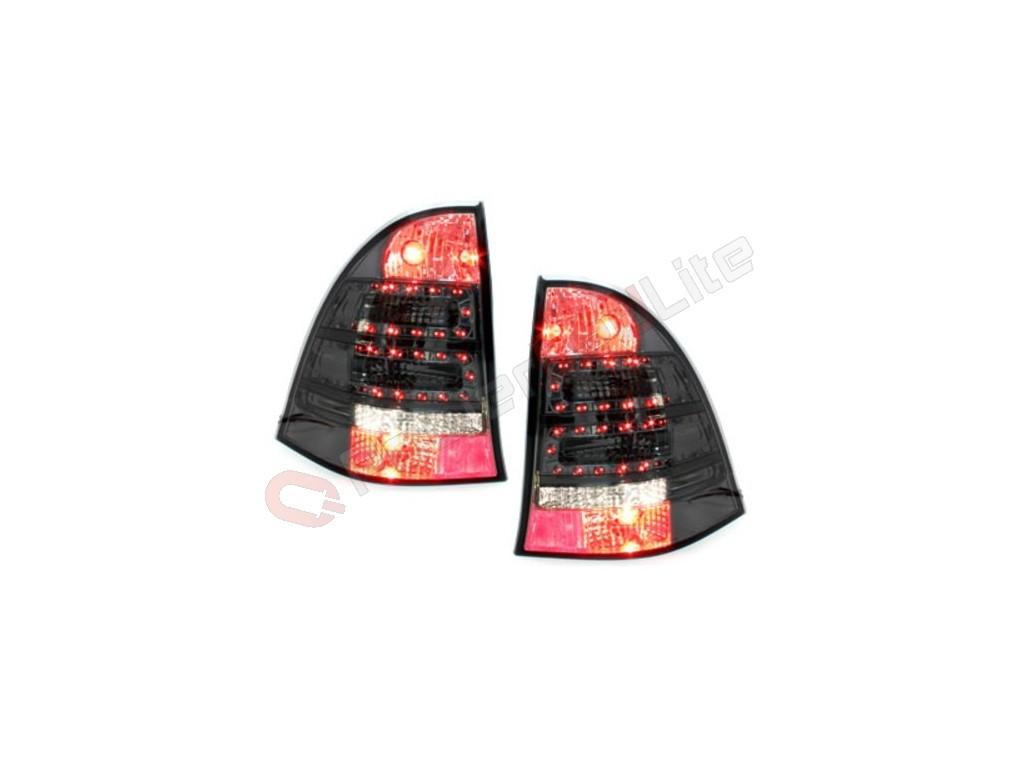 feux arri res led pour mercedes benz c w203 00 07 smoke. Black Bedroom Furniture Sets. Home Design Ideas