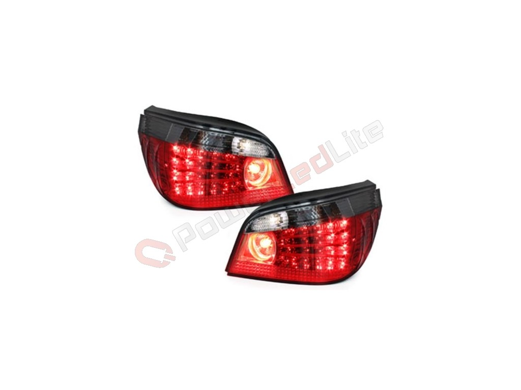 feux arri res led pour bmw e60 04 07 red smoke. Black Bedroom Furniture Sets. Home Design Ideas