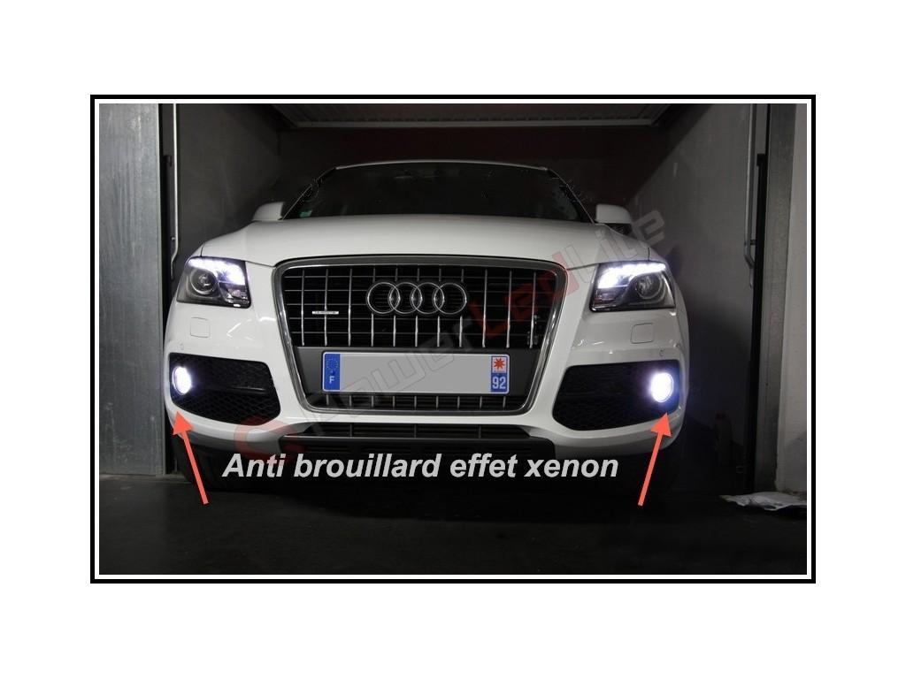 pack feux anti brouillard ampoules effet xenon pour audi q5 powerledlite. Black Bedroom Furniture Sets. Home Design Ideas