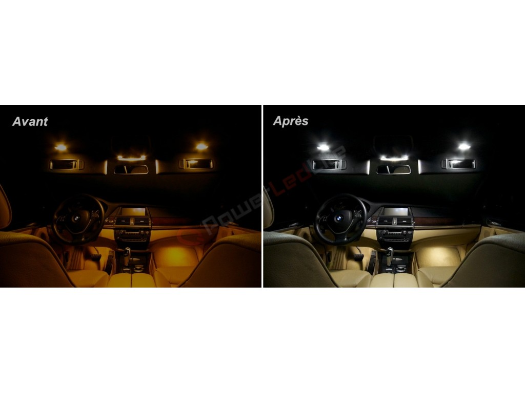 Pack led habitacle int rieur pour bmw x6 e71 powerledlite for Interieur x6