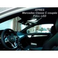 Pack LED Habitacle Intérieur pour Mercedes Classe C W203 coupé sport