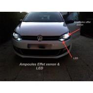 Pack Feux de Croisement / Route Ampoules Effet Xenon pour VW Corrado