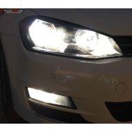 Pack Feux Anti Brouillard Ampoules Effet Xenon pour VW Golf 7