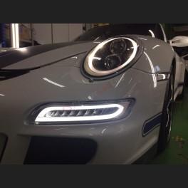 Jeu de feux diurnes LED look 991 Turbo pour Porsche 997 MKI