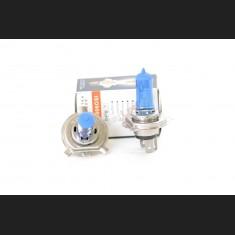 Pack de 2 Ampoules Halogènes Type H4 Effet Xénon Long Life 12V 60/55W Blanc Pur 6000K