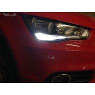 Pack Feux de Jour / Feux de route Ampoules Effet Xénon pour Volkswagen Jetta 4
