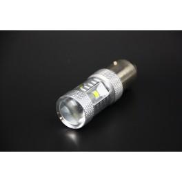 Ampoules LED P21/5W - BAY15D/1157 6 Leds Haute Puissance CREE Loupe Canbus Blanc Pur