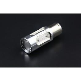 Ampoules LED PY21W 11W - BAU15S 13 Leds Haute Puissance Loupe Canbus Orange