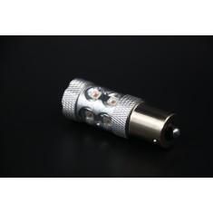 Ampoules LED P21W - BA15S/1156 10 Leds Haute Puissance Loupe Canbus Orange