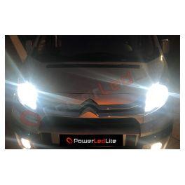 Pack Feux de route Ampoules LED Haute Puissance pour Renault Clio 2 Double Optique